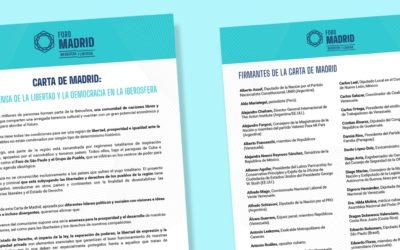 Únete a la Carta de Madrid en defensa de la libertad en la Iberosfera